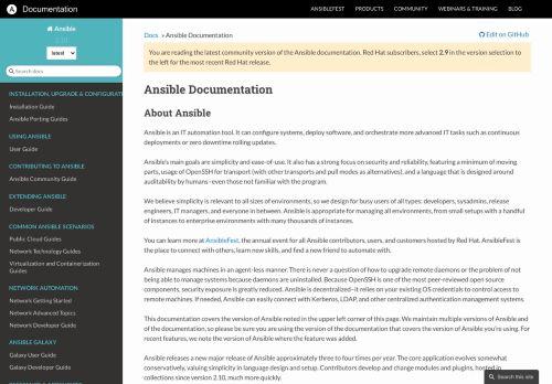 Ansible Documentation